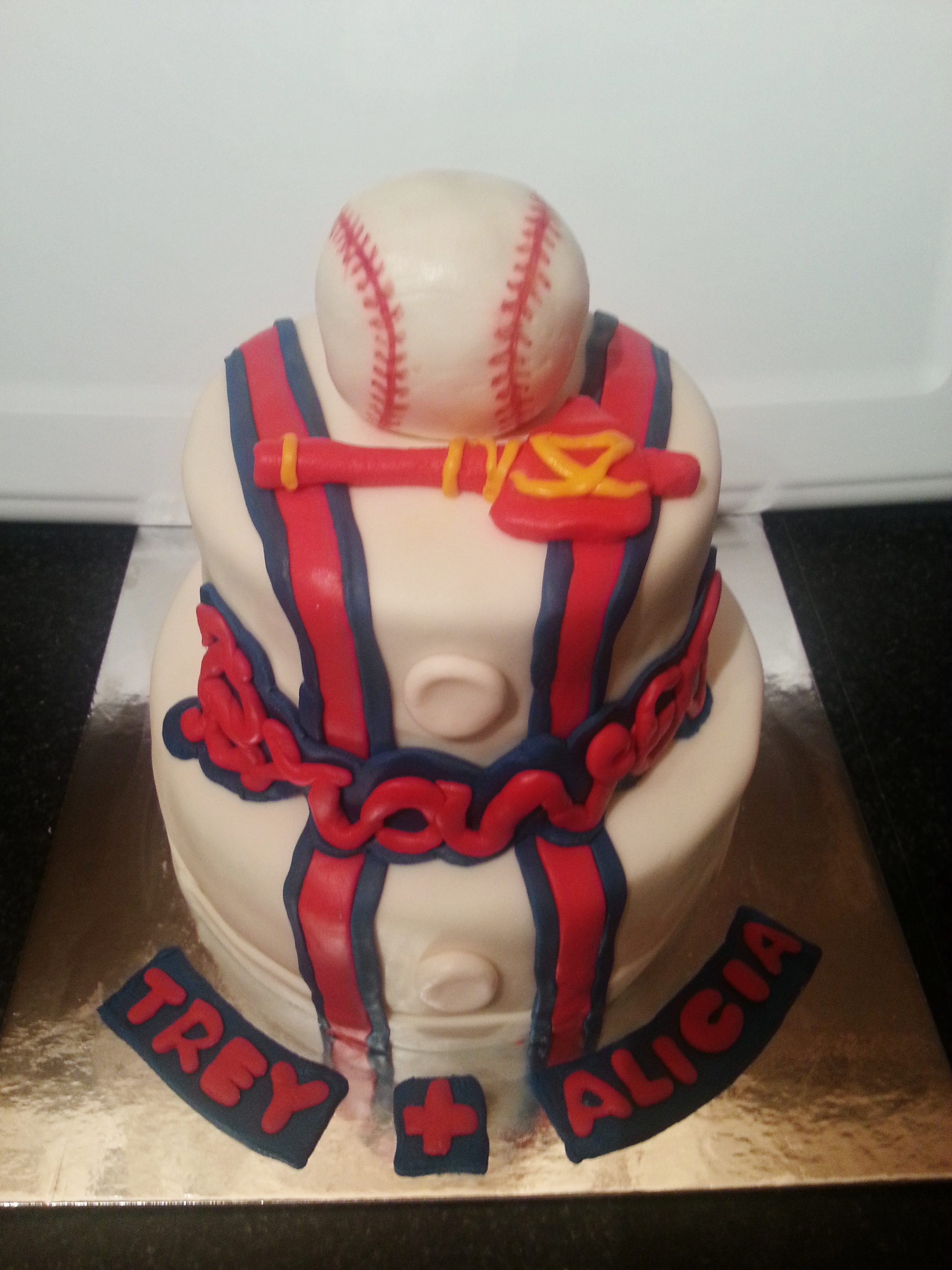 Atlanta Braves Lunch Plates 18ct And The Lovely Cake